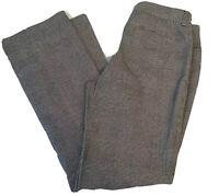 Lauren Ralph Lauren Size 8 Adelle Plaid Gray Black Flat Front Trousers Pants