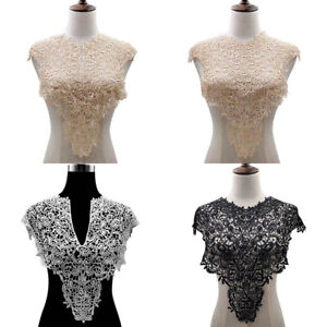 Embroidered Lace Neck Collar Flower Neckline Patches Clothing Sew on Applique