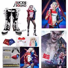 Cosplay Batman Suicide Squad Harley Quinn Costume+Wig+Props+Schuhe TOP Halloween