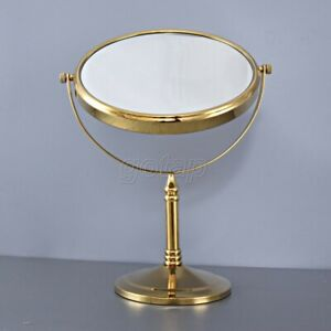 Gold Color Brass Ladies Beauty Makeup Magnifying Mirror Desk Mirror Gba641