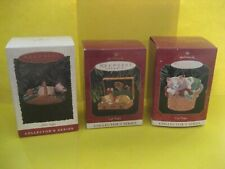 Hallmark Cat Naps Series Ornaments 1996 3rd, 1997 4th &1998 5th & Final Sdb