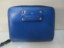 Kate Spade Mini Zip Wallet Pebble  Blue - 3 Compartments