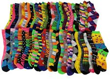 50 Pairs Women Wholesale Lots  Bright Colorful  Fancy design Novelty Crew socks