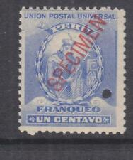 PERU, 1896 Atahualpa 1c. Ultramarine, ABN Punched Proof, SPECIMEN in Red, mnh.