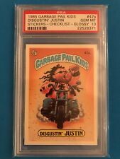 1985 Garbage Pail Kids GLOSSY #47a Disgustin' Justin SF PSA 10 GEM MINT OS2 371