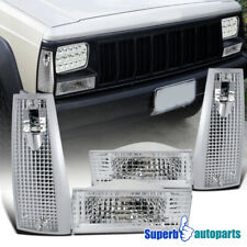 For 1984-1996 Jeep Cherokee Corner Signal Lights+Bumper Parking Lamps