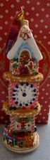 Christopher Radko Ornament Sugary Timepiece Gingerbread Clock Tower 1019110 New