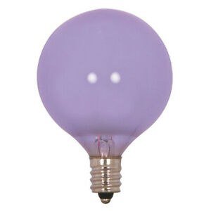 Satco S2975 60W 120V Globe G16.5 Full Spectrum Frost E12 Base Incand. bulb