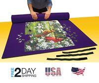 "Jigsaw Puzzle Mat Board Roll Up Storage Easy Tube Holder Organizer 48"" x 36"""