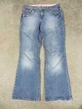 L.e.i. Faded & Frayed Blue Stretch Denim Jeans, sz 5 short
