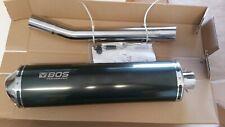 BOS Oval 110CS Carbon Steel Slip/On EG für Suzuki GSF 600 Bandit, Bj. 1996-2004