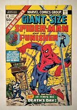 Giant Size Spider-Man and Punisher #4 (Marvel Comics, 1975) Bronze Age FN-
