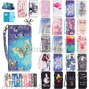 Fashion Magentic Leather Card Wallet Stand Case Cover For Samsung Galaxy S7e S8+