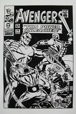 Large Production Art AVENGERS #29 cover, DON HECK art