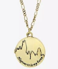 Harry Potter Hogwarts Is My Home Locket Pendant Necklace New With Tags!