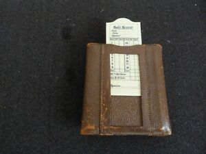 Vintage Leather Golf Tee Holder and Score Card