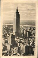 Postkarte Ansichtskarte Pk Ak sw gelaufen Empire State Building  Karte USA