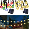 Outdoor Solar 30 LED String Light Crystal Ball Garden Yard Xmas Party Decor Lamp