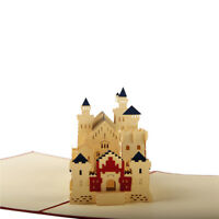 3D Swan Fort Neuschwanstein House Postcards Party Invitation Cards Creative Gift