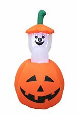 Animated Halloween Inflatable Pumpkin Ghost Yard Garden Decoration Air Blown New