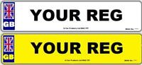 Pair Standard GB MOT UK Road Legal Car Reg Registration Number Plates