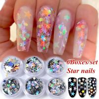 Nail Art Decoration DIY Manicure Supplies Star Shape Nail Sequins Face Makeup