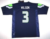 Nwt New Seattle Seahawks Jersey NFL Football Russell Wilson  3 Navy Boy  Youth fb292a700