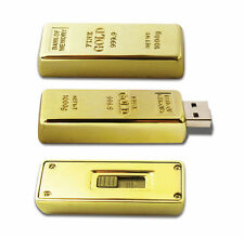16GB Genuine Storage Novelty Gold Bar USB 2.0 Memory Stick Flash Drive