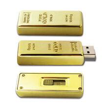 16GB genuine storage nouveauté gold bar usb 2.0 memory stick flash drive