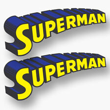 2x SUPERMAN Decals Stickers Vinyl Logo Super Hero Man of Steel Car Truck Windows