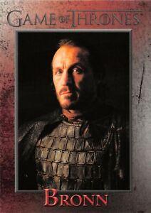 BRONN (Jerome Flynn) / Game of Thrones Season 1 (2012) BASE Card #40