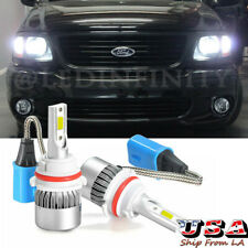 9007 LED Headlight Bulbs 6000K White for Ford F150 1997-2003 F250 97-2004