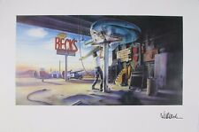 JEFF BECK GUITAR SHOP 1989 SIGNED LITHOGRAPH POSTER automobile music mechanic NM