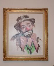 """Emmett Kelly """"Keep Your Chin Up """" Limited Edition S/N 122/250 Oil On Canvas"""
