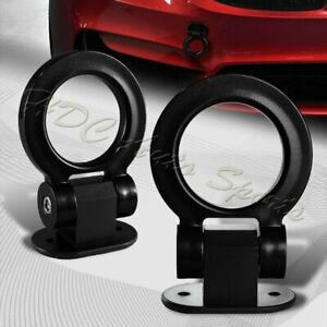 Universal Car SUV Black Ring Track Racing Style Tow Hook Look Decoration JDM