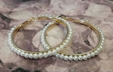 boucles d'oreilles anneaux creoles petites perles