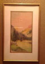 OWEN STAPLES  1866-1949 -  Noted CANADIAN ARTIST  - WATERCOLOR