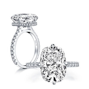 8-Carat Cushion 925 Sterling Silver CZ Engagement Ring Wedding Band Sz 3-12 RE02