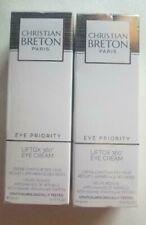 Christian BRETON liftox 360 eye cream NIB sealed 0.45 fl.oz / 15 ml 2 Pieces