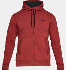 Under Armour Men's UA Threadborne Fleece Full Zip Hoodie - XL - Red - New