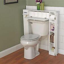 Over Toilet Storage Cabinet Bathroom Space Saver Organizer Paper Shelves 2 Doors