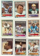 1983 Topps Football you pick commons 12 picks for $2.00 N M cond. and better