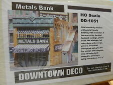 Downtown Deco HO #DD1051 Metals Bank  (Plaster Kit)