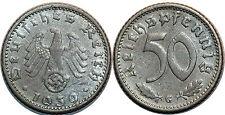 Allemagne (IIIe Reich), 50 pfennig, 1939 G Karlsruhe