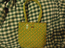 Longaberger Sunflower Paisley Green Toggle Tote Purse-new-Sale!