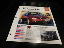 1997+ Alfa Romeo 156 Spec Sheet Brochure Photo Poster