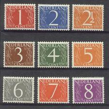 NVPH 460-468 cijferzegels 1946-1957 postfris (MNH)