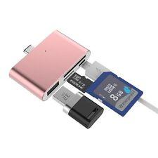 ORO ROSA USB Type-C HUB PER MACBOOK con MicroSD / SD CARD READER USB tipo A