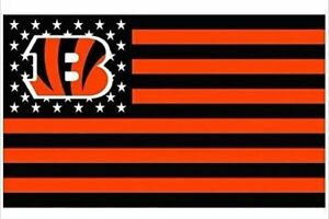 NFL Cincinnati Bengals Stars and Stripes Flag Banner 3X5 FT FAST USA SHIPPING