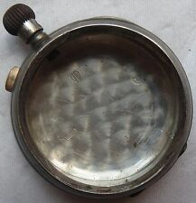 Chronograph Vintage pocket watch open face silver case 52,5 mm.